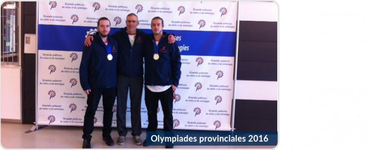 Olympiades provinciales : le CRIF remporte le bronze et l'argent!