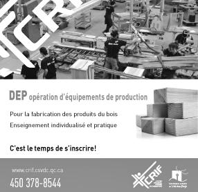 DEP opération d'équipements de production