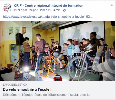 Du vélo-smoothie à l'école !
